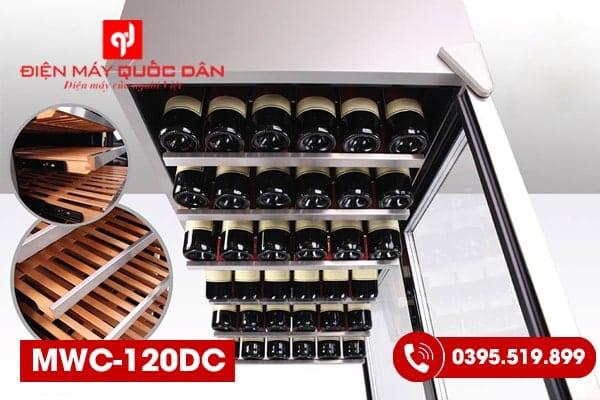 Tủ bảo quản rượu độc lập Malloca MWC-120DC-1