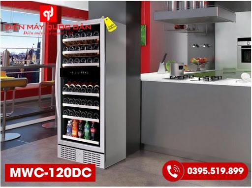 Tủ bảo quản rượu độc lập Malloca MWC-120DC-3