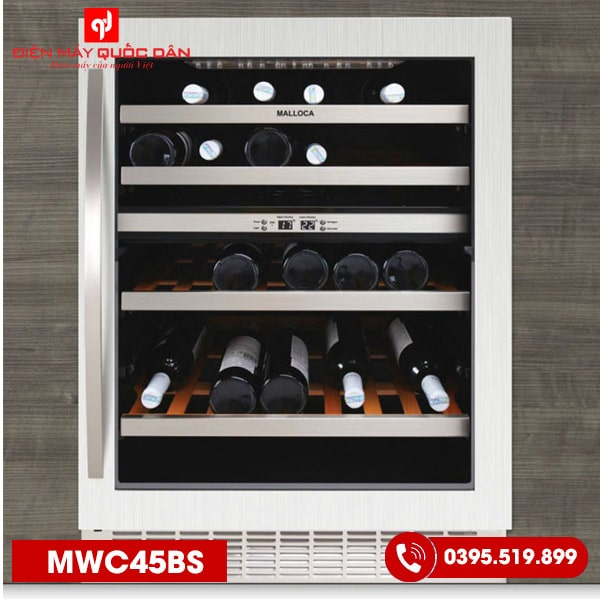 Tủ ướp rượu Malloca MWC45BS-1